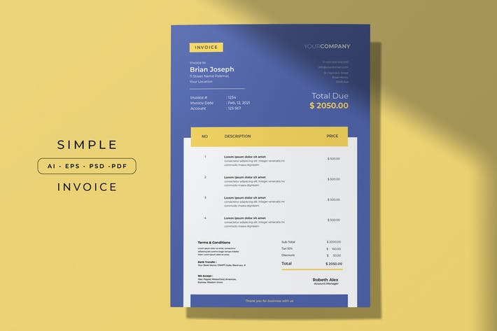 Thumbnail for Simple Invoice