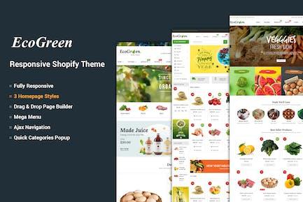 EcoGreen - Organic, Frutas, Vegetales Shopify Tema