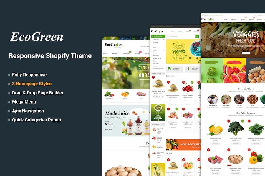 EcoGreen - Organic, Fruit, Vegetable Shopify Theme
