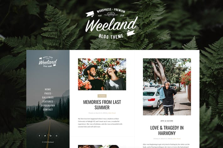 Thumbnail for Weeland - Masonry Lifestyle WordPress Blog Theme