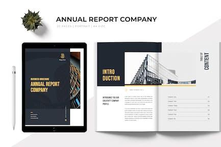Annual Report Company Profile Template