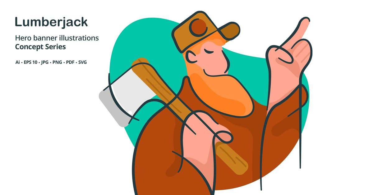 Download Lumberjack Occupation Vector Illustration by roundicons