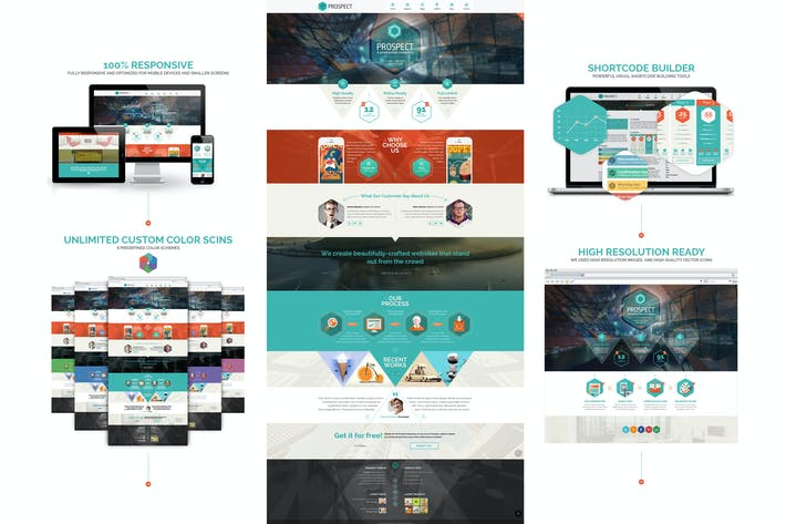 Thumbnail for Prospect PSD Template