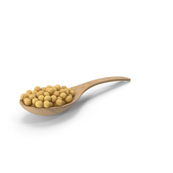 Wood Spoon With Peas