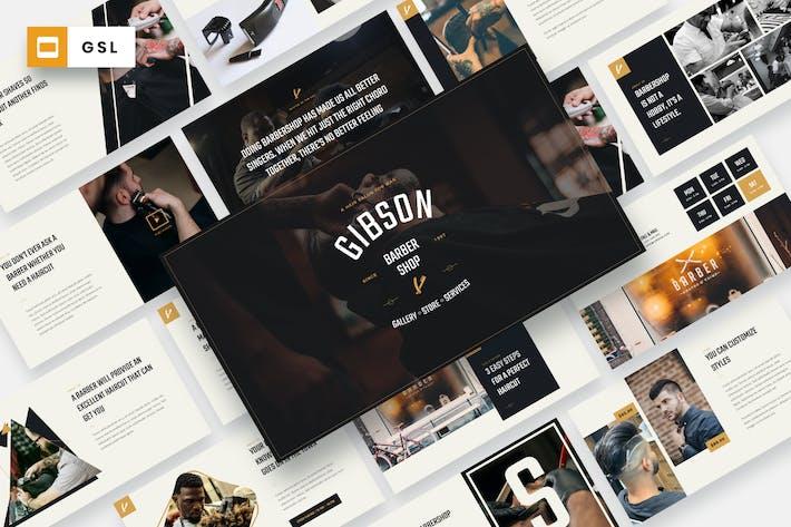 GIBSON - Barbershop Google Slides Template