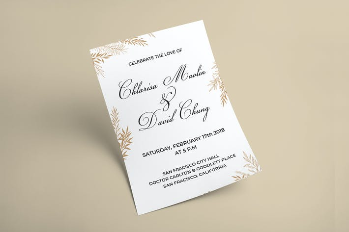 Thumbnail for Gold Leaf Invitation