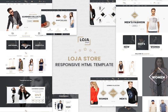 Thumbnail for Loja - Responsive HTML Template