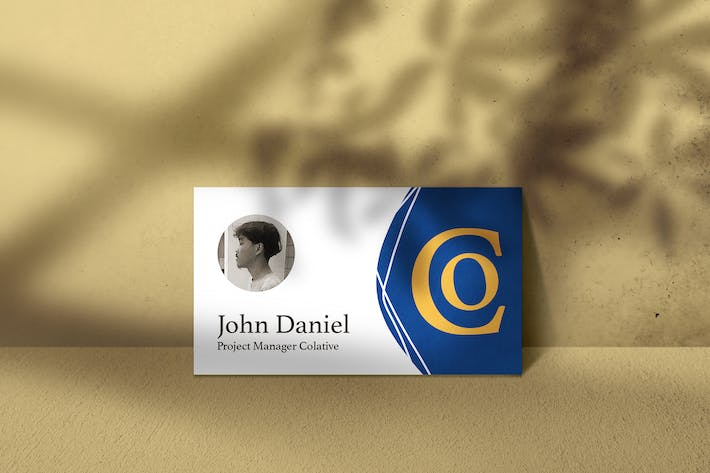 Thumbnail for Standing Minimalist Business Card Mockup