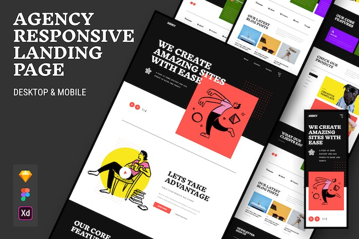 Thumbnail for Creative Agency Responsive Landing Page
