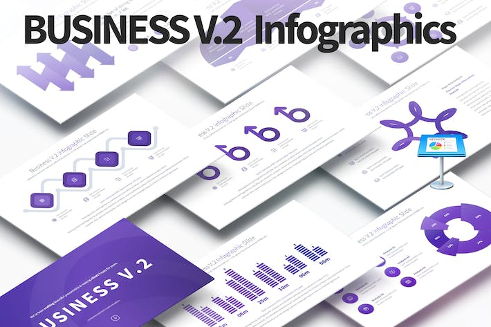 Thumbnail for Business V.2 - Keynote Infographics Slides