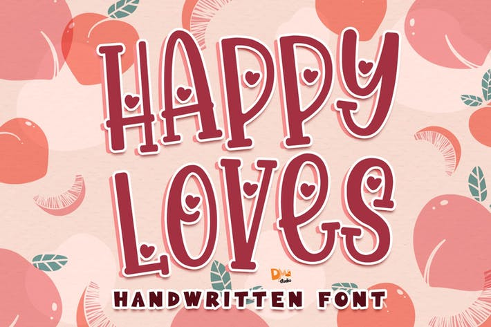 Thumbnail for Happy Loves - Police manuscrite