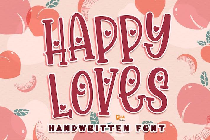 Thumbnail for Happy Loves - Fuente escrita a mano