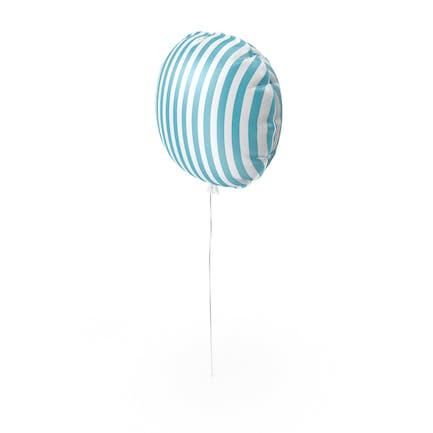 Blauer und weißer Streifenballon