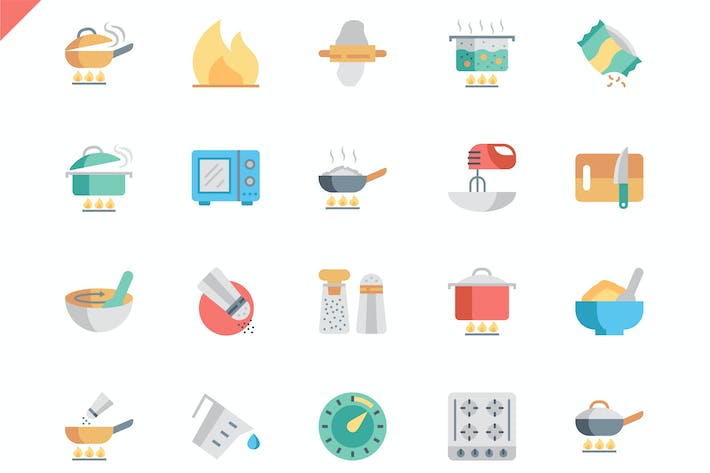 Thumbnail for Simple Set Cooking Flat Icons