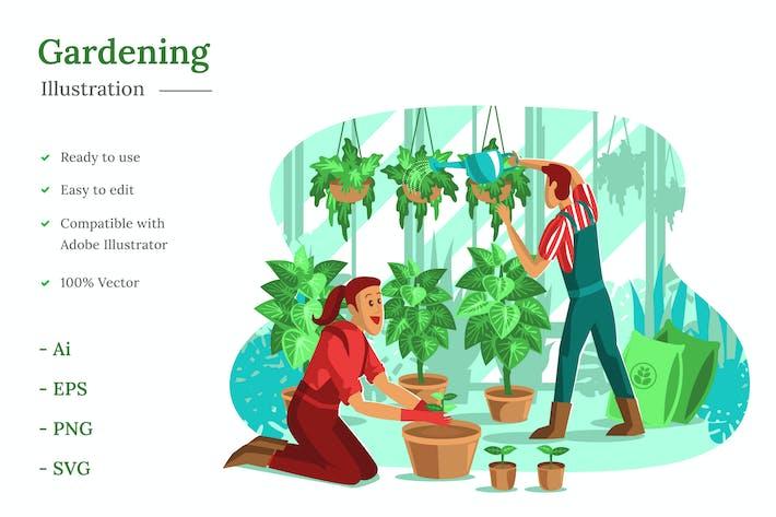 Thumbnail for Gardening Illustration