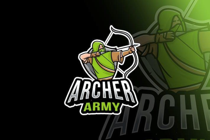 Thumbnail for Archer Army Esport Logo Template
