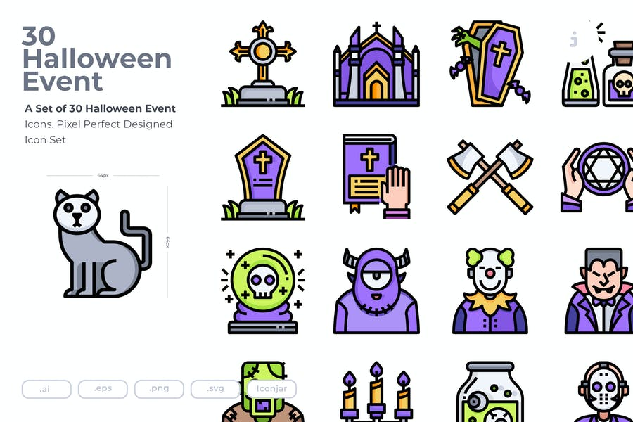 30 Halloween Event Icons