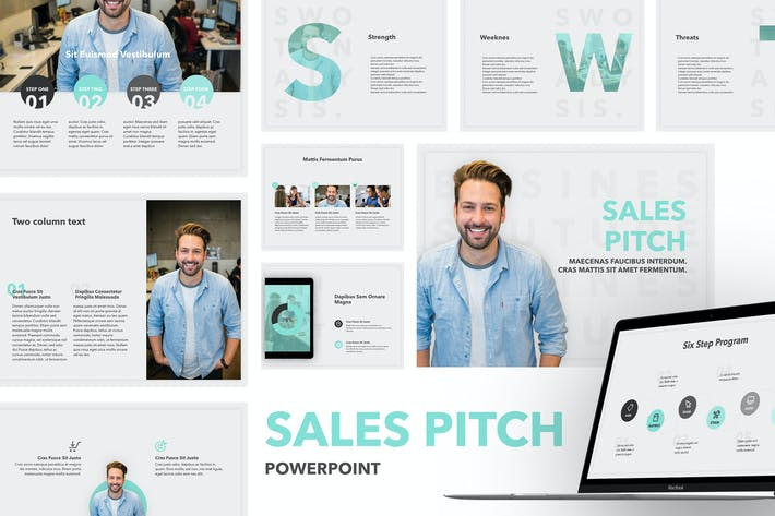 Cover Image For Sales Pitch PowerPoint Template