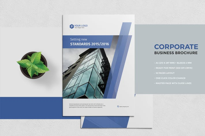 Thumbnail for Corporate Business Brochure 18 Pages