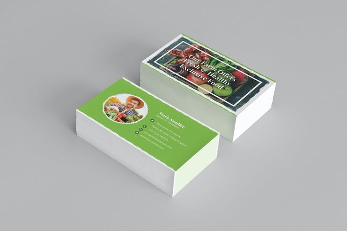 Thumbnail for Business Card – Organic Food