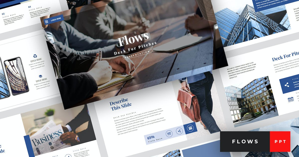 Download Flows - Pitch Deck PowerPoint Template by StringLabs