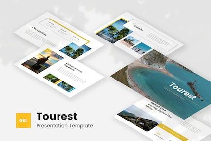 Tourest - Путешествия и туризм Google Слайды Шаблон
