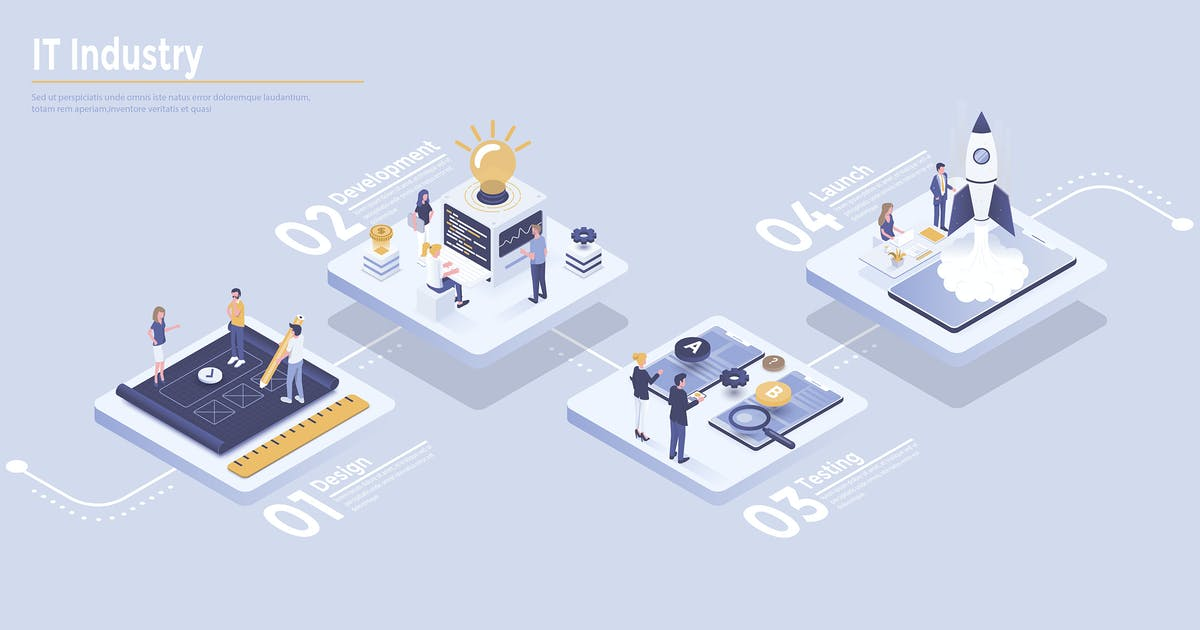 Download Modern Isometric Infographics design by graphics4u