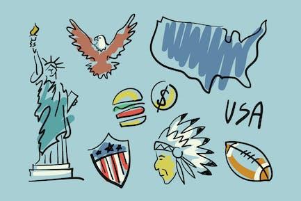 Besuchen Sie USA Doodles