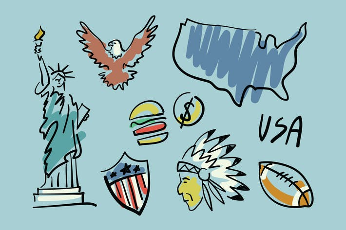 Thumbnail for Visit USA Doodles