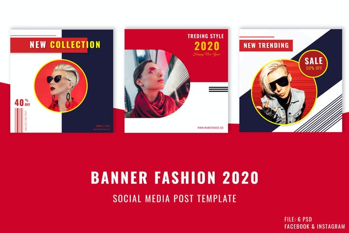 Thumbnail for Banner Social Media Post Template