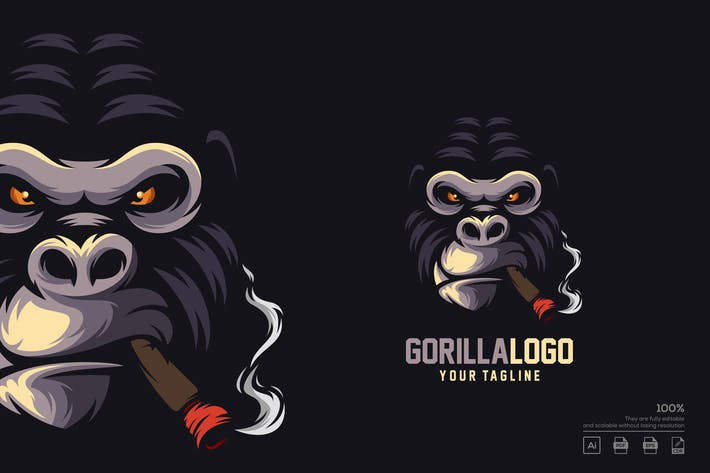 Thumbnail for Gorilla logo design