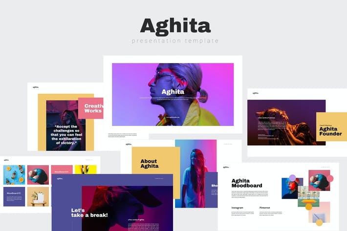 Thumbnail for Aghita Powerpoint Template