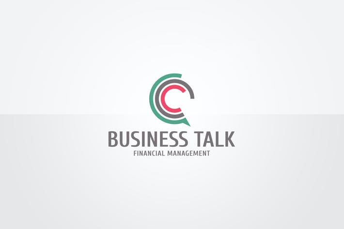 Thumbnail for Business Talk Logo Template