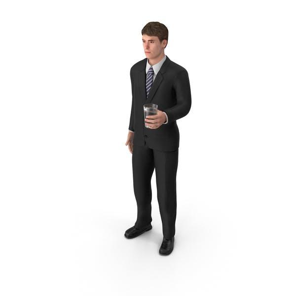 Thumbnail for Businessman John Holding Drink