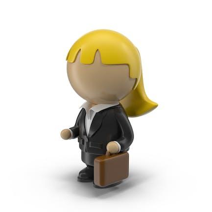 Cartoon Businesswoman Character