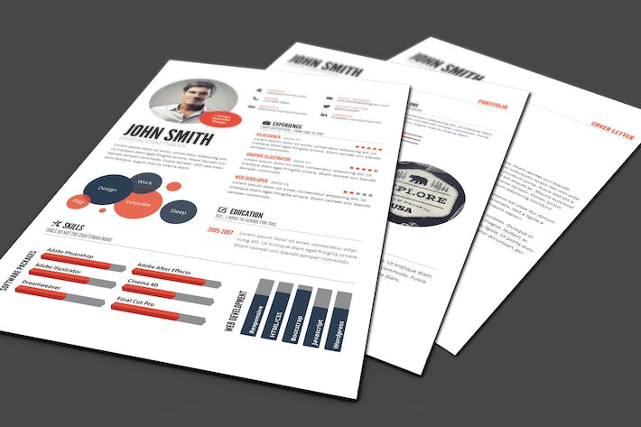 infographic style resume template by graphicmonkee on envato elements