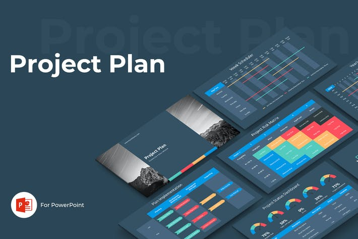 Thumbnail for Project Plan PowerPoint Template