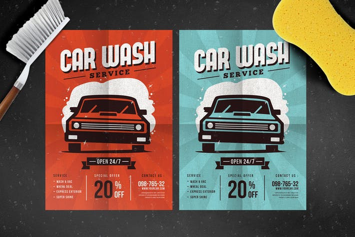 Thumbnail for Car Wash Service Flyer