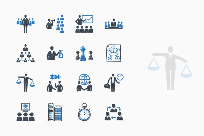 Thumbnail for Business & Management Icons Set 2 - Blue Series