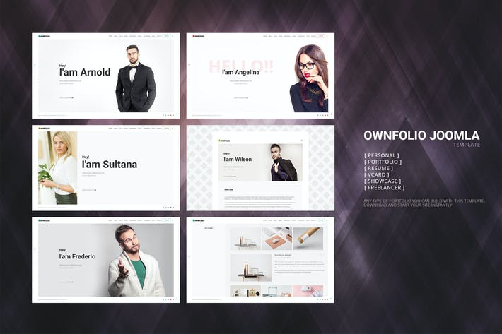 Thumbnail for OwnFolio - One Page Portfolio  Joomla Template