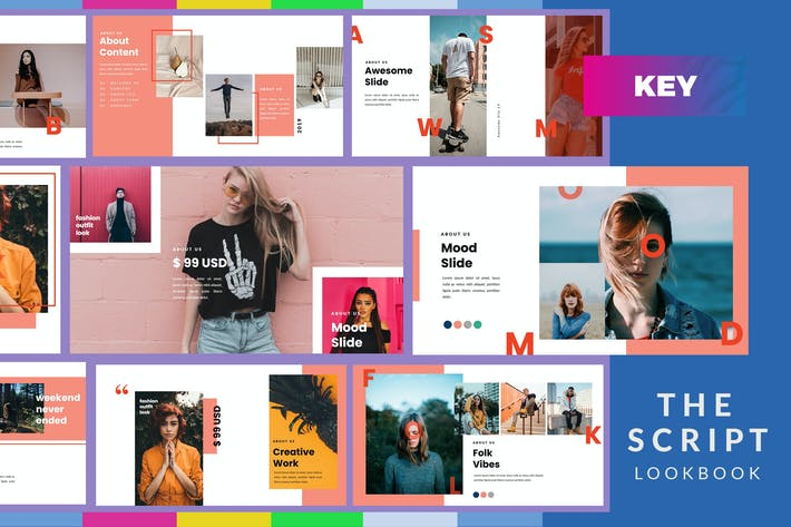 Cover Image For The Script Lookbook - Keynote Template