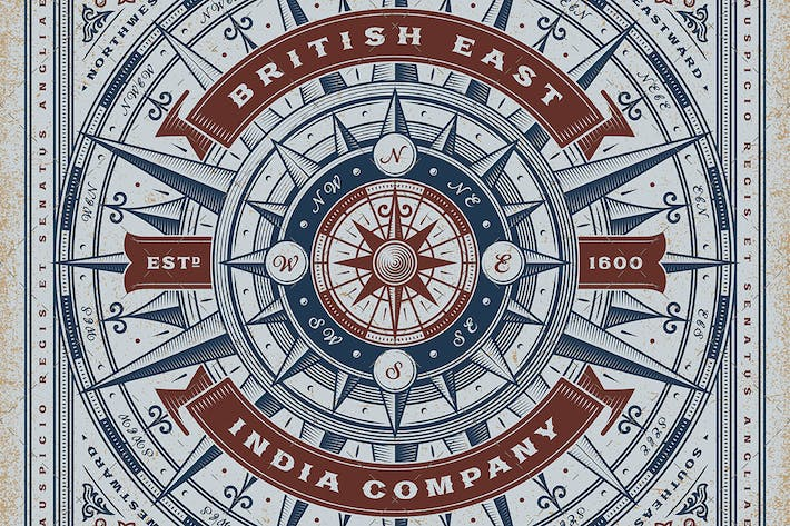 Thumbnail for Vintage British East India Company Tipografía