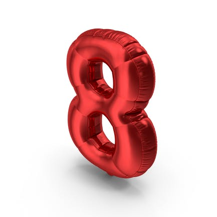Foil Balloon Number8 Red