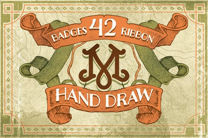 Thumbnail for 42 Badges & ribbon