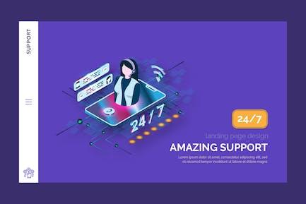 Support - Hero Banner Zielseite Vorlage