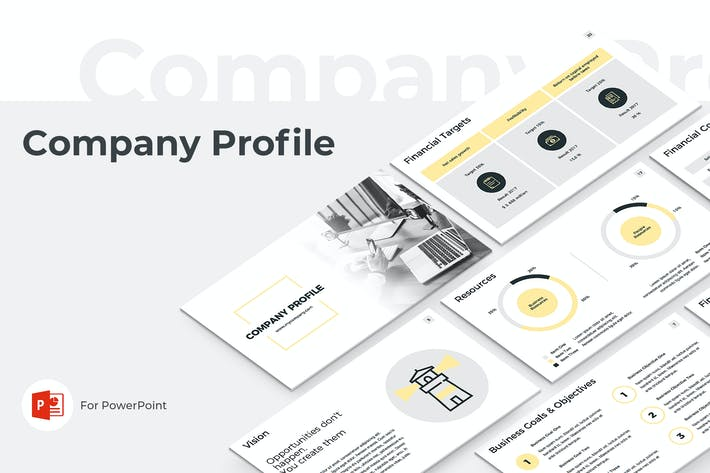 Thumbnail for Company Profile PowerPoint Presentation Template