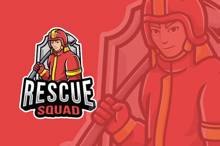 Thumbnail for Rescue Squad Logo Template