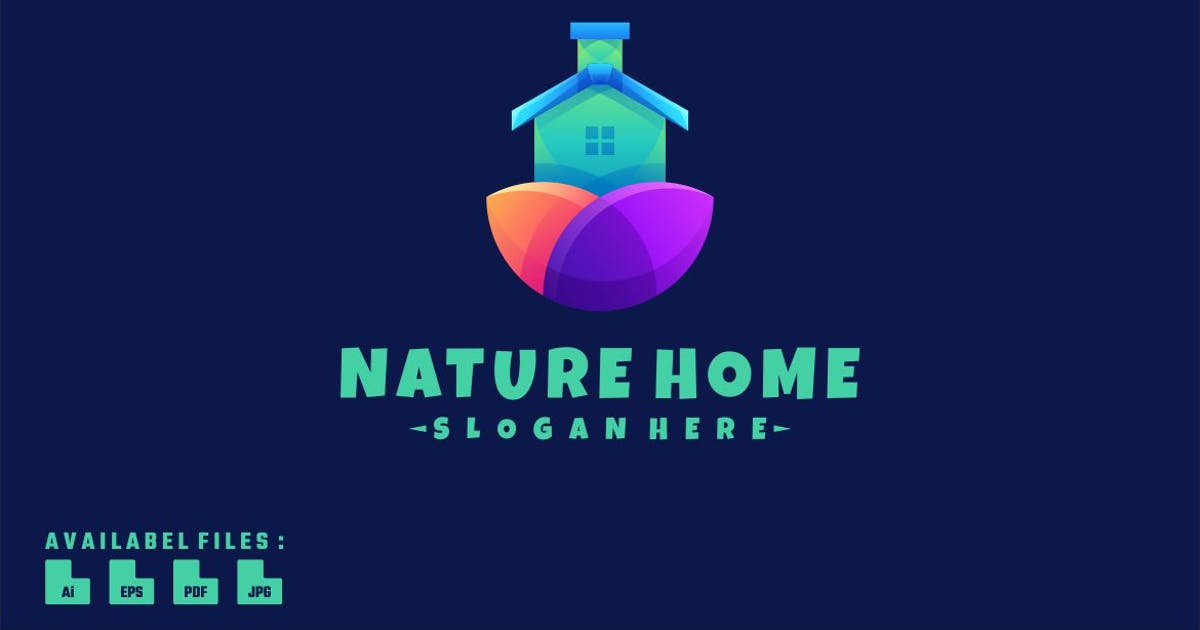 Download Colorful Nature Home Logo Design by maikohatta