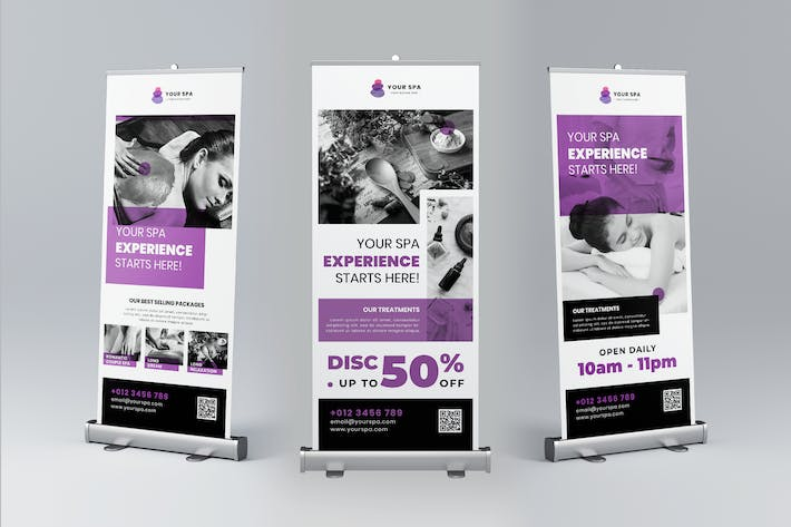 Thumbnail for Spa Roll Up Banner Promotion