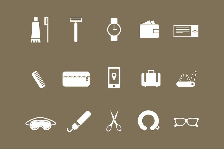 15 Travel Kit Icons
